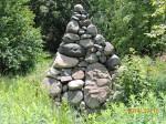 Steve's stone pyramid