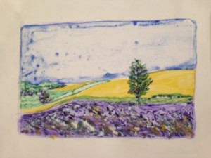 Watercolor Monotype by Janet Schill