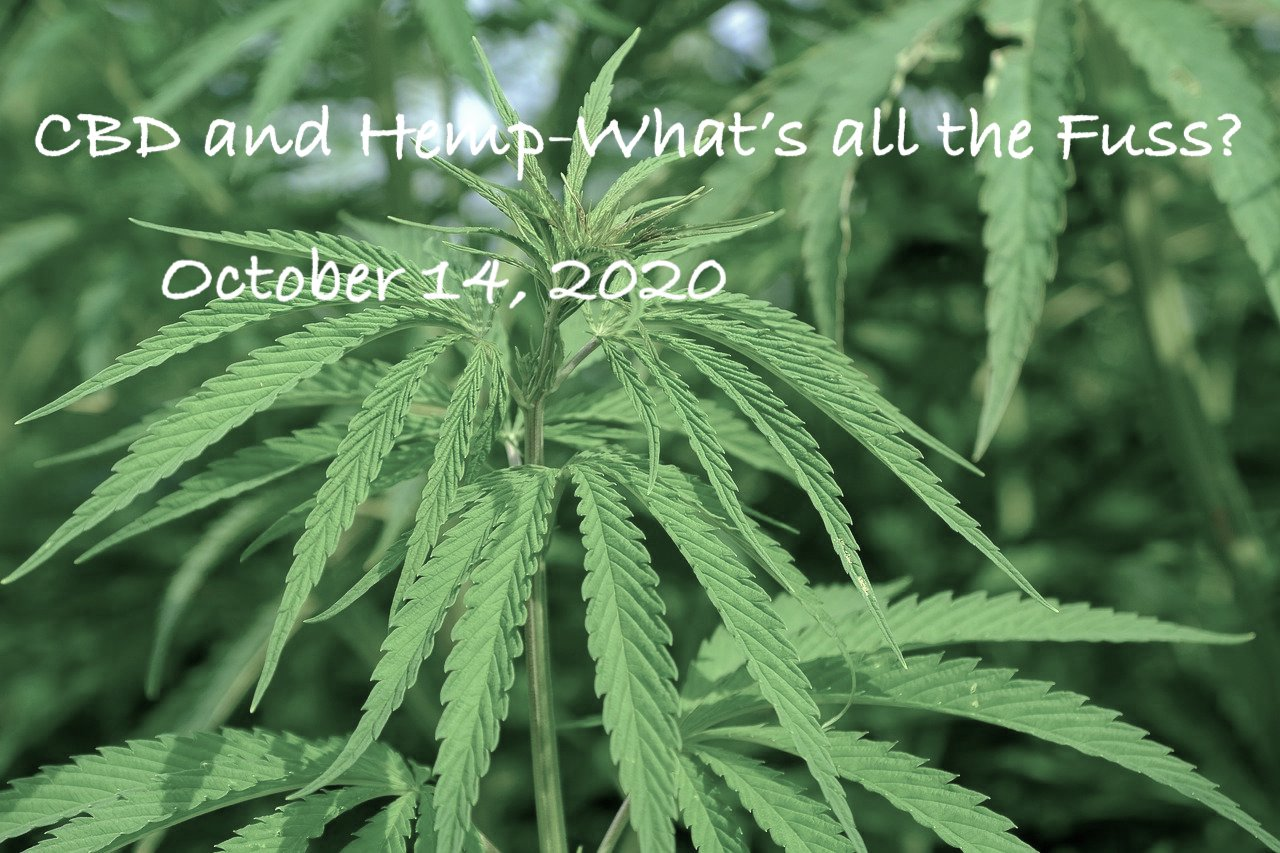 CBD and Hemp-What's all the fuss?  October 14, 2020 (Zoom)